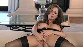 Hippy HD porn tube Big breasted chippy Emily Addison is wearing steamy black nylons on fascinating legs that she spreads widely one and only she slides hand 'tween playing with