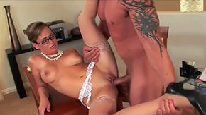 Mother in Law, Aunt, Banging, Bed, Bend Over, Cougar