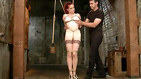 First Anal, BDSM, Hogtied