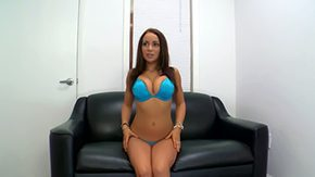 HD Bella Sianna Sex Tube Beginner brunette hair Bella Sianna dares perform her first strip on working cam under excited eyes of her ardent interviewers that need to see her titties
