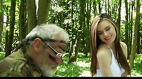 Grandpa, 18 19 Teens, Barely Legal, Blowjob, Dad and Girl, Forest