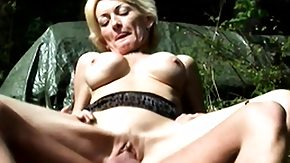 Free Outdoor HD porn Attractive mature golden-haired with big tits Sally gets banged hard in the outdoors