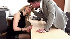 Anita Vixen, Blonde, Blowjob, Desk, European, Office