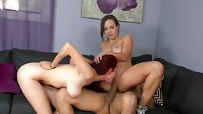 Lili Love, 3some, Ball Licking, Blowbang, Blowjob, Brunette