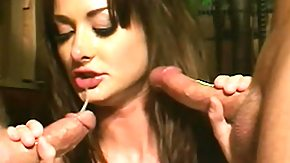 Throat Fucked, 3some, Banging, Blowbang, Blowjob, Brunette