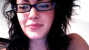 Webcam, Amateur, Brunette, Curly, Cute, Emo