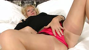 Stocking Masturbation, Amateur, Black, Blonde, Dildo, Leggings