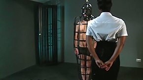Slave, BDSM, Big Tits, Cage, Dominatrix, Ebony