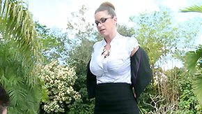 Brooklyn Chase, Babe, Big Tits, Brunette, Femdom, Glasses