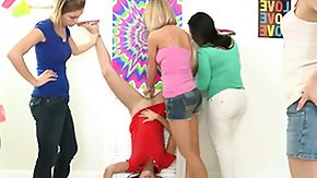 Toys, Blonde, Brunette, Group, High Definition, Lesbian