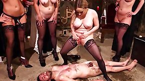 Free Femdom HD porn man ashamed and fucked by perverted witches