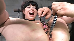 Free BDSM HD porn videos brunette gets batted eyes at