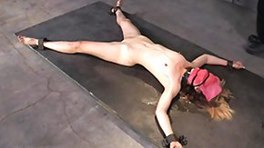 Tied, BDSM, Bound, Brunette, Caning, Hogtied