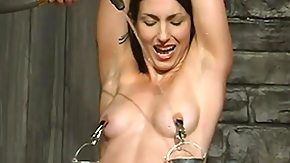 Nipple, BDSM, Brunette, Flexible, Nipples, Tied Up
