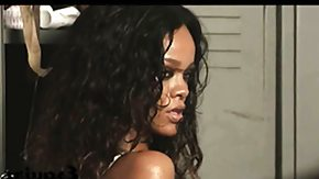 Free See Through HD porn videos Rihanna seethrough to her ebony melons in a photoshoot