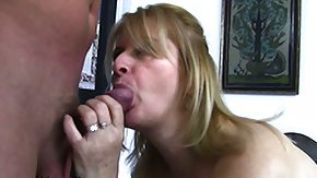 Son, Blonde, Blowjob, Cumshot, European, Facial