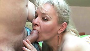 Old Lady, Amateur, Blonde, Blowjob, Cum, Experienced