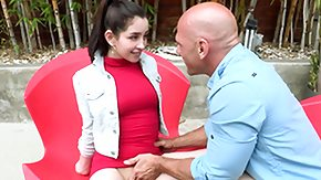 Johnny Sins, Babe, Blowjob, Brunette, Cute, Fucking