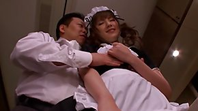 Japanese Girl, Asian, Blowjob, Boobs, Boss, Cleaner