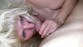 Fat Grannie, BBW, Big Tits, Blonde, Blowjob, Boobs
