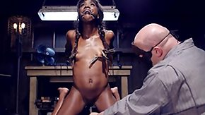 Ana Fox, Babe, Black, Bondage, Interracial, Nipple Clamp