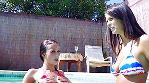 Swim, Babe, Bikini, Brunette, Outdoor