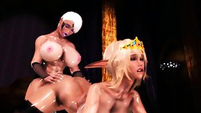 Free Hentai 3d HD porn Hentai 3d shemale gets tittyfucked by golden-haired elf girl