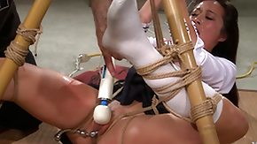 Master, Asian, BDSM, Boobs, Brunette, Fingering