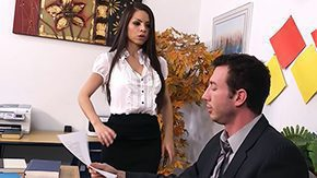 Office Job, Big Tits, Blowjob, Boobs, Brunette, Desk