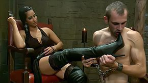 Domination, Boots, Brunette, Brutal, Domination, Dominatrix