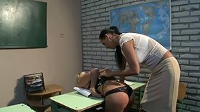 HD Barbie Black Sex Tube Provocative black haired professor Mandy Bright educates spine-tingling aroused blonde Barbie White