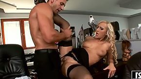 HD Nina Moonlight Sex Tube Blonde pornstar Nina Moonlight gives strange blowjob fucks like horny floosie