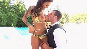 Angelina Valentine, Big Pussy, Big Tits, Bikini, Boobs, Brunette