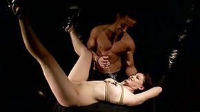 Safira White, Basement, BDSM, Blindfolded, Blowjob, Bondage