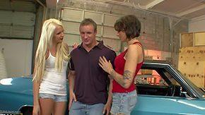 Car, 4some, Amateur, Babe, Blonde, Blowjob