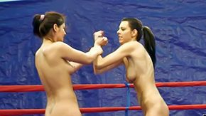 Wrestling, Amateur, Assfucking, Babe, Brunette, Catfight
