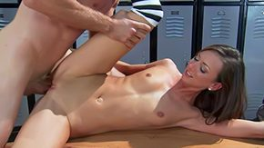 HD Katy Less Sex Tube Skeletal young fitness girl Katie Jordin with wee tits stingy shaved pussy receives banged hard off out of one's mind unpredictable intensify in the middle of Acheron baffle in alcove room This slender natty loves