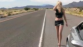 Driving HD porn tube Driving fast 150mph pronouncing off her body amateur blonde long hair tall grey eyes long-legged american 19yo87 apart single tease suited up microscopic underskirt outside