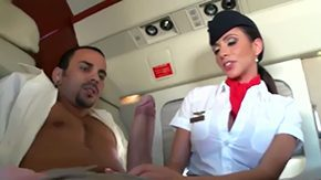 Stewardess, Ball Licking, Banging, Blowjob, Boss, Choking