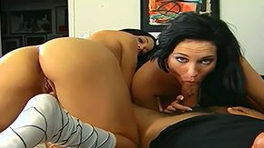 Anna Bella, Ball Licking, Blowjob, Brunette, Choking, Cigarette