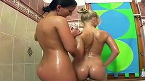 HD Mili Jay tube Two lesbians Mili Jay Nikol taking ardent refreshing discharged while kissing centrally located bathroom they get continue their hot time centrally located warm comfy