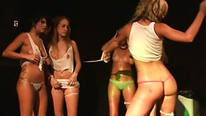 Wet T-shirt High Definition sex Movies Hot bitches bunch clothes elsewhere close to stained t-shirt event