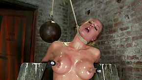 Oil, Babe, Blonde, Blowjob, Bondage, Boobs