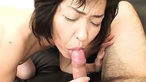 Asian granny gets handled by two dudes and gets nailed