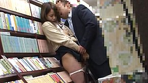 Bookstore High Definition sex Movies Japanese Slut Fucked in the Bookstore