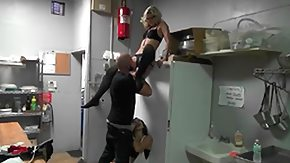 Kitchen, 3some, Babe, Blonde, Blowjob, Boots