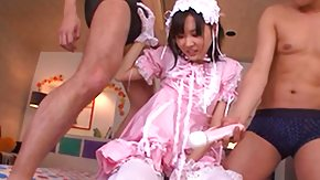 Maid, Asian, Babe, Blowjob, Fingering, Japanese