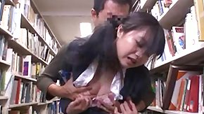 Library, Asian, Asian Mature, Brunette, Grinding, Humiliation