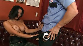 Milf Throat, Big Tits, Blowjob, Boobs, Brunette, Cop