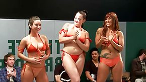 Lezdom, Bikini, Brunette, Dominatrix, Femdom, Fight